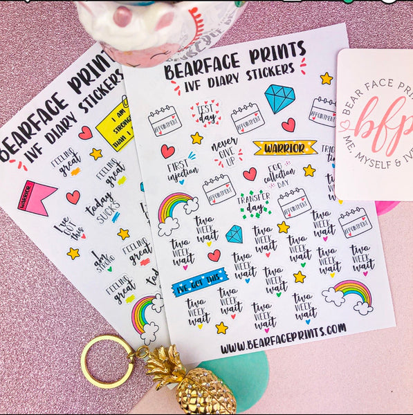 IVF Diary stickers