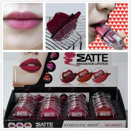 Pack of 4 Romantic Bird Matte Innovation Lipstick - Multicolor