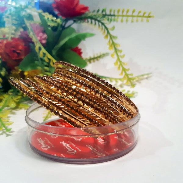 Beautiful stylish golden bangles Nagina