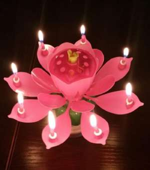 MUSIC FLOWER CANDLES