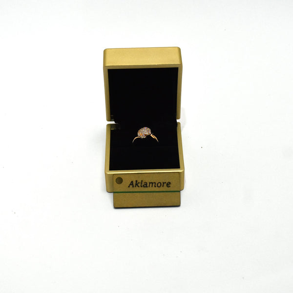 gold platted stylish zarcon ring