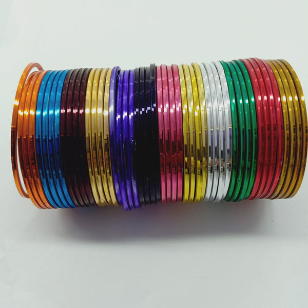 Bangles metal multy color 48 pec for daily use