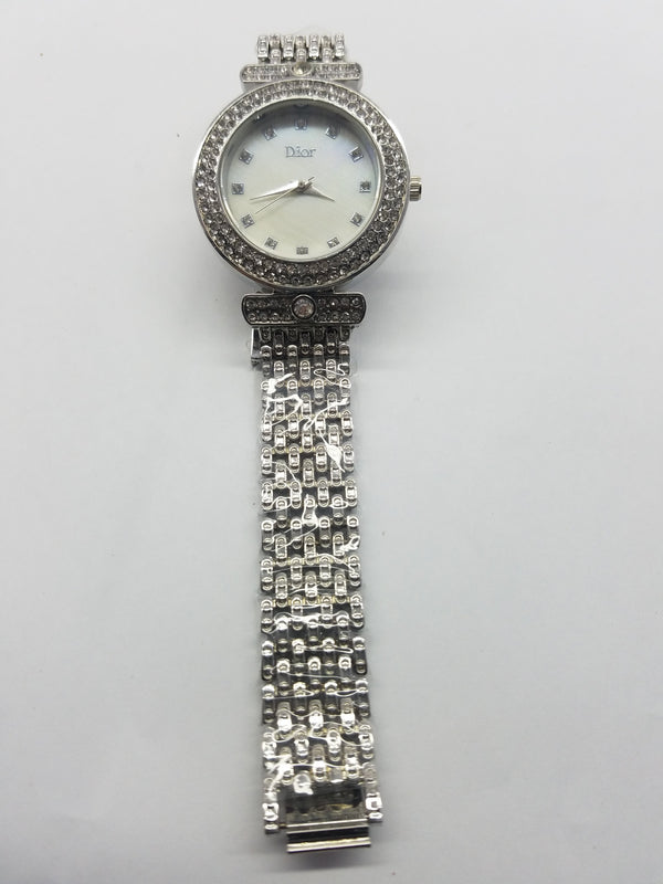 Silver stylish watch