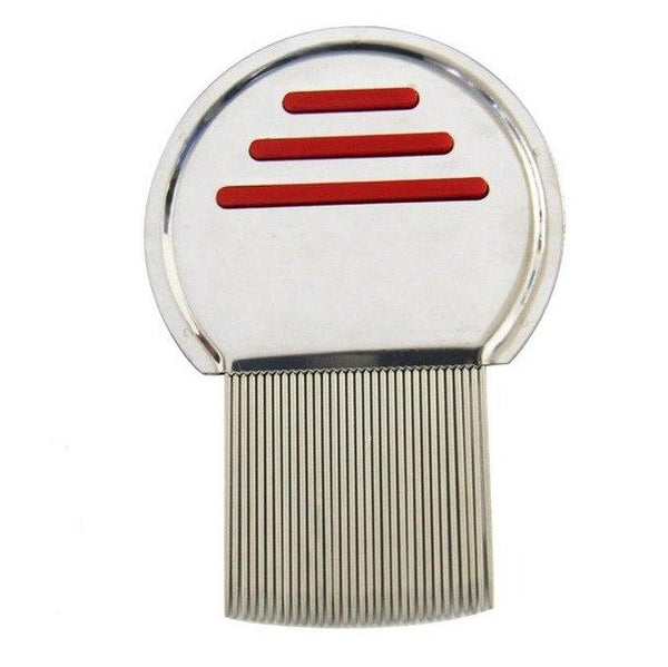 RED BERRY LICE COMB STAINLESS STEEL SILVER COMB