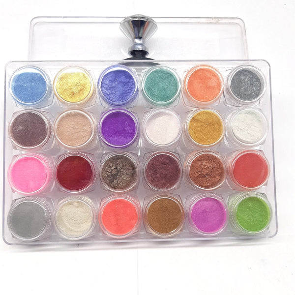 Pack of 24 shimmer dust with free eye stamp