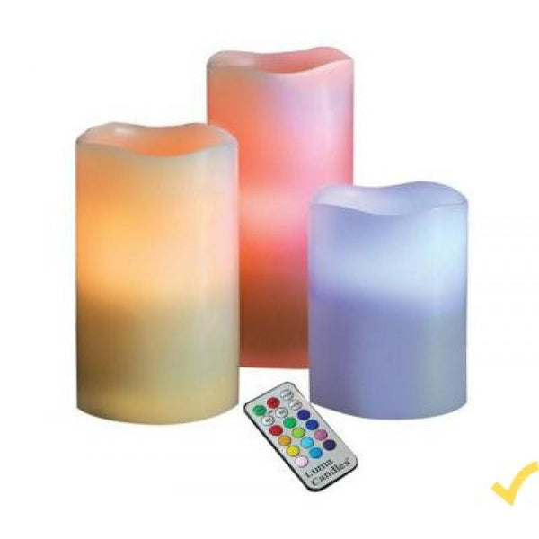 LUMA LED CANDLES 12 COLOR