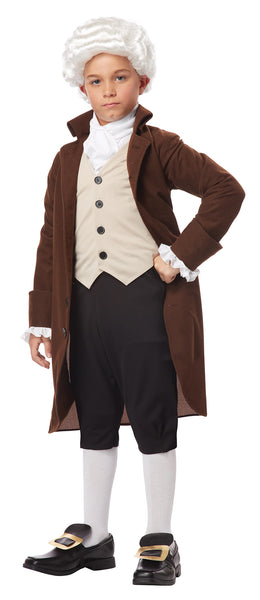 Colonial Man Benjamin Franklin Child Boy Costume