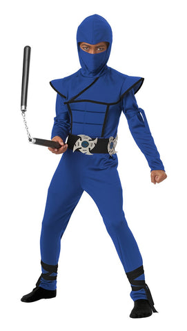 Stealth Ninja Blue Boy Costume