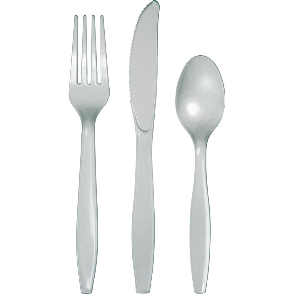Touch Of Color Shimmering Silver Assrt Cutlery