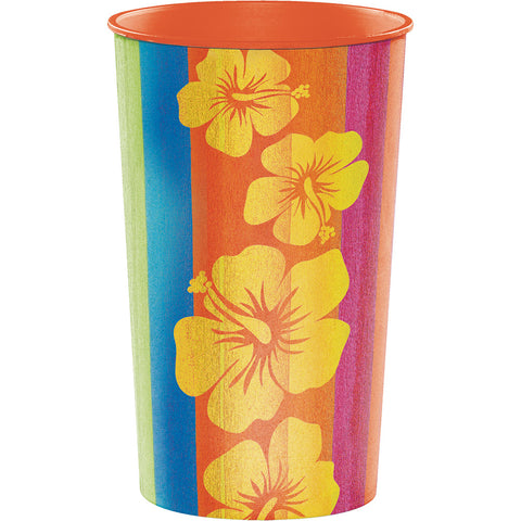 Luau Sunset Stripes Plastic Cup