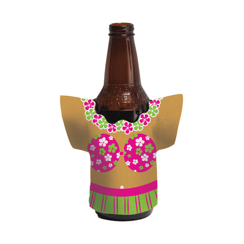 Luau Deco Drink Holders Shaped Hula Girl