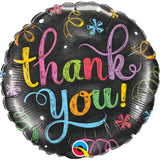 Thank You Chalkboard  Round Foil Balloon