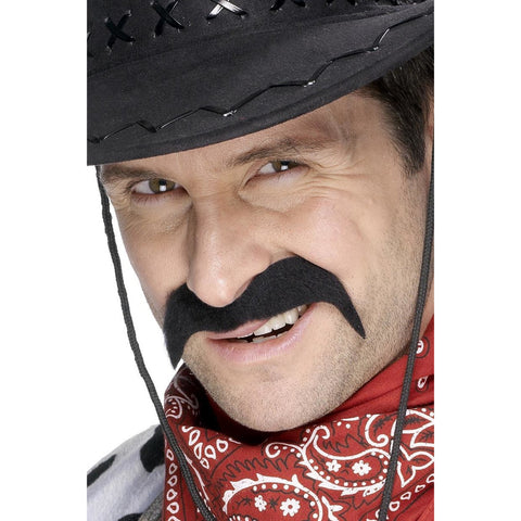 Cowboy Tash Black Self Adhesive