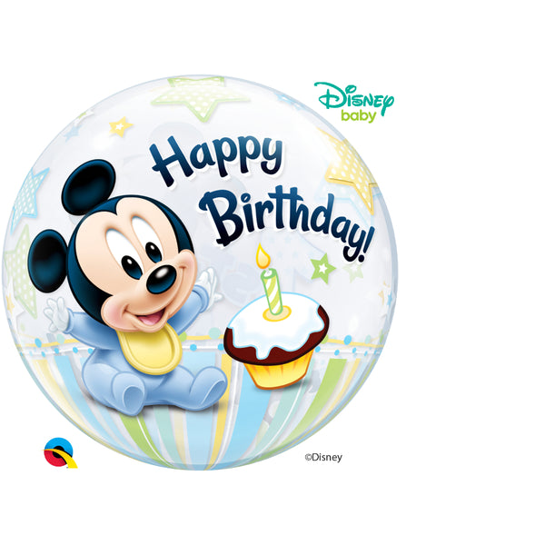Mickey Mouse 1St Bday 22in Single Bubble 1Ct