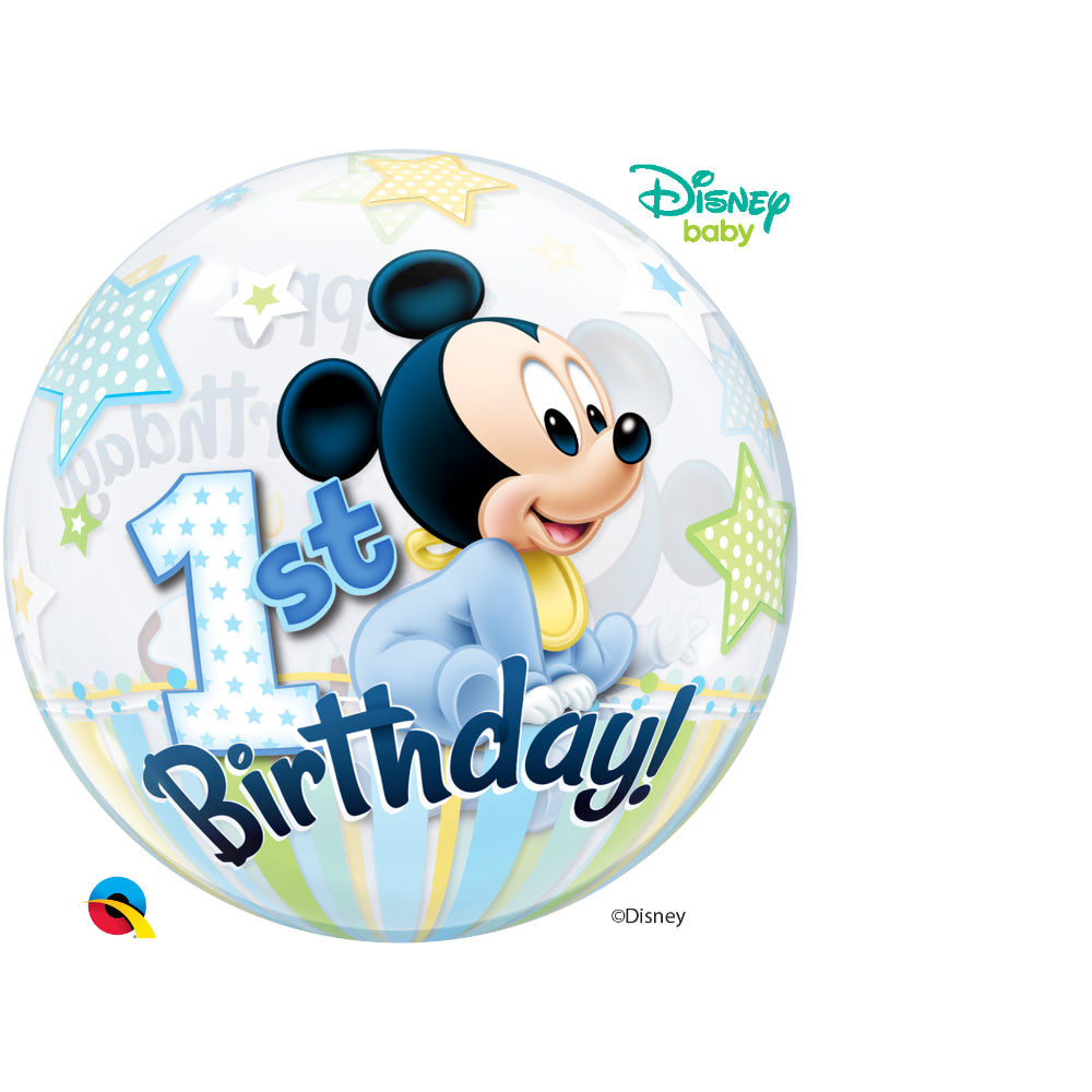 Mickey Mouse 1St Birthday Single Bubble 1 pc