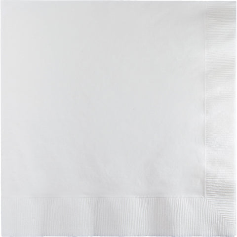 Touch Of Color White Luncheon Napkins