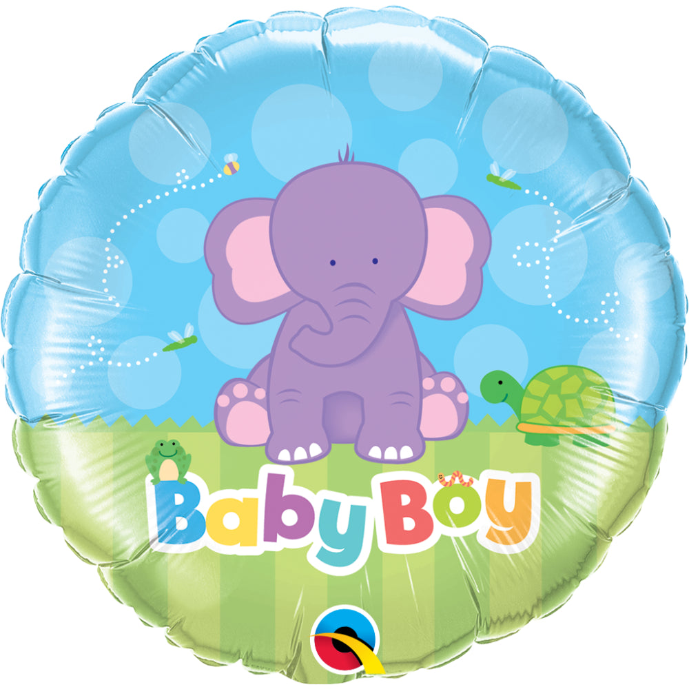 Baby Boy Elephant  Foil Balloon