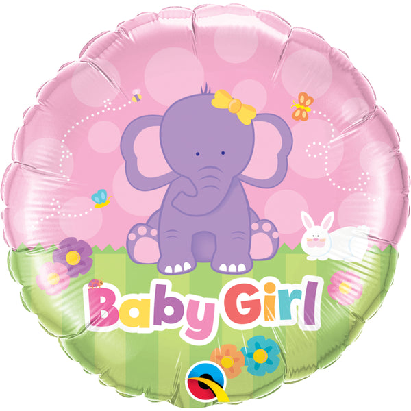 Baby Girl Elephant  Foil Balloon