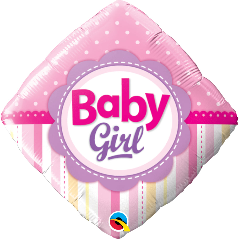Baby Girl Dots & Stripes  Foil Balloon