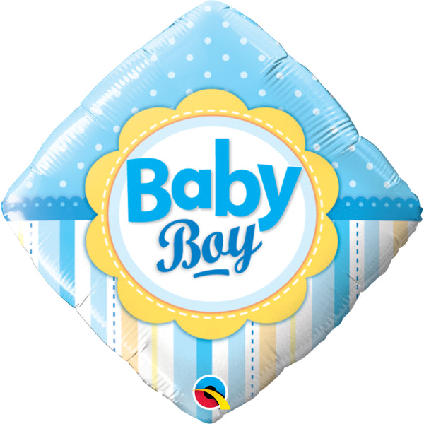 Baby Boy Dots & Stripes  Foil Balloon