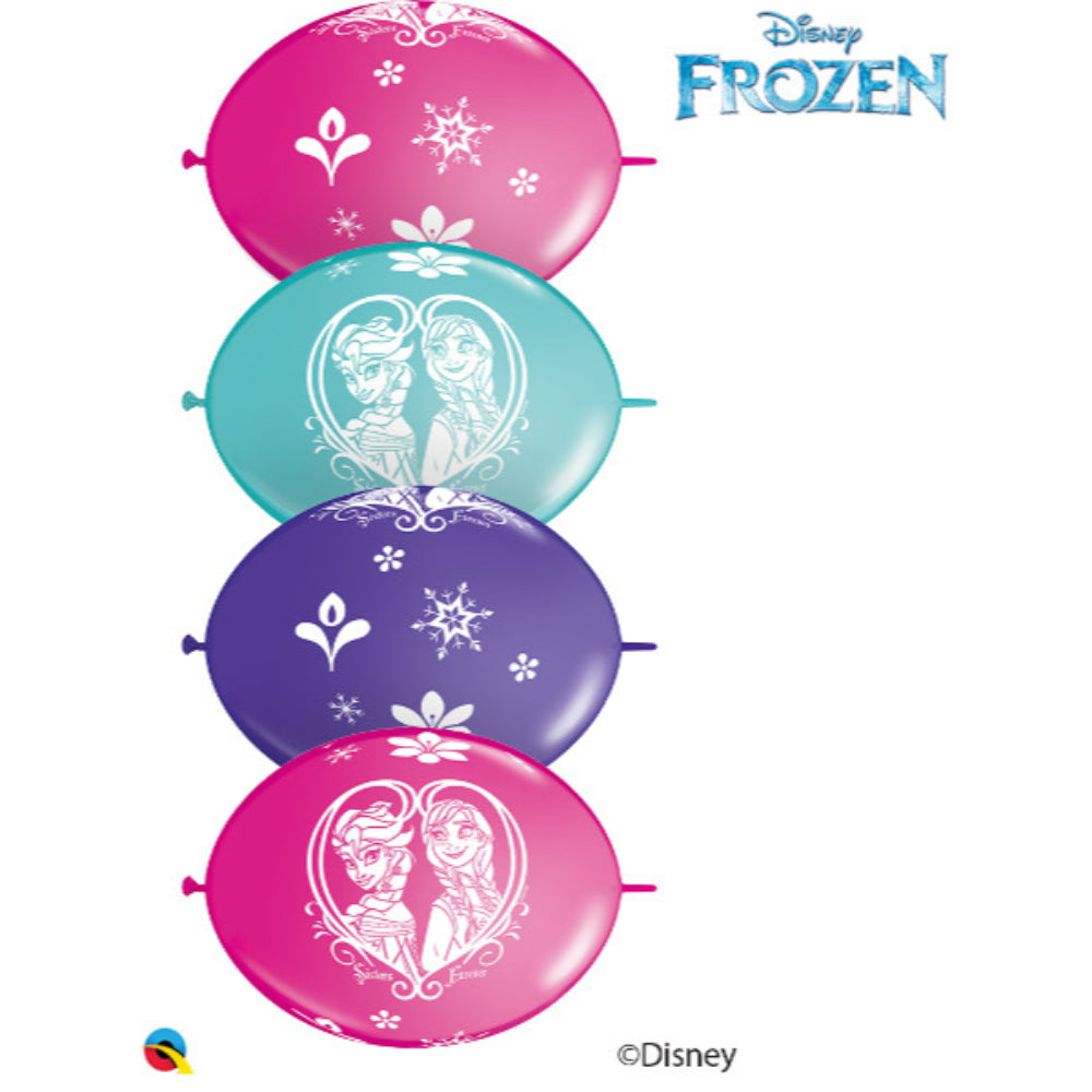 Disney Frozen Latex Party Banner Balloons, 12in Qlink 10 pieces