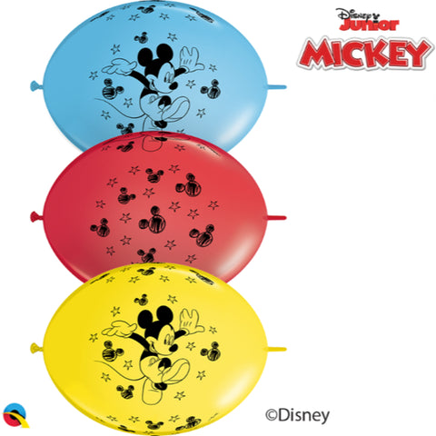 12 inch Qlink Disney Mickey Mouse  Party Banner Balloons