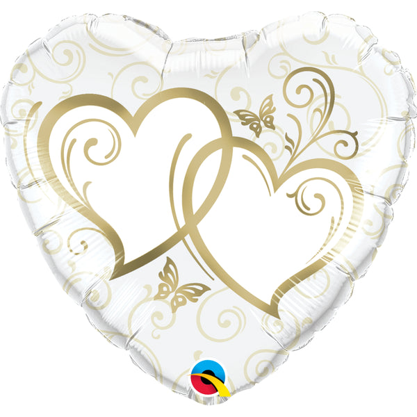 Entwined Hearts Foil Balloon