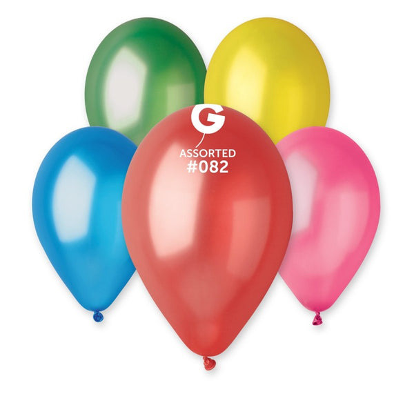 12in Metallic Assorted Latex Balloons100 pieces