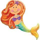 Halographic Mery Mermaid Foil Balloon