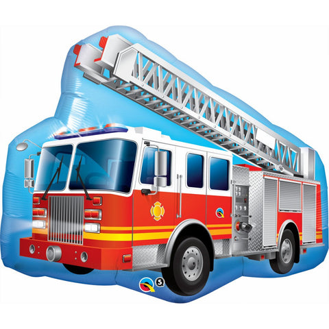 Fire Truck Foil Balloon
