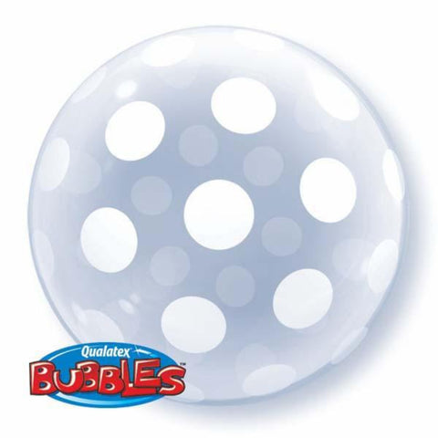 "20"" Deco Bubble Big Polka Dots All Around Foil"
