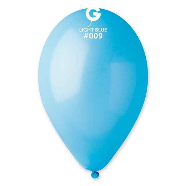12in Standard Light Blue Latex Balloons 100 pieces