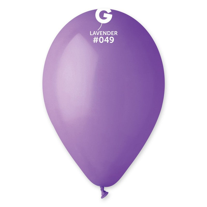12in Standard Lavender Latex Balloons 100 pieces