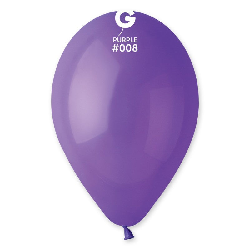 12in Standard Purple Latex Balloons 100 pieces