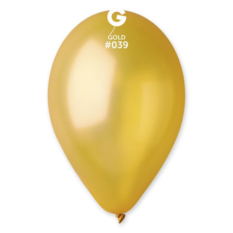 12in Metallic Gold Latex Balloons 100 pieces