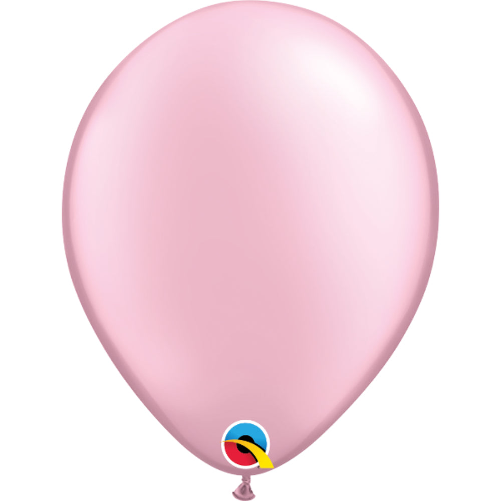 Pearl Pink 11in Latex Balloons 6 pieces