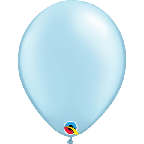 Pearl Light Blue 11in Latex Balloons 6 pieces