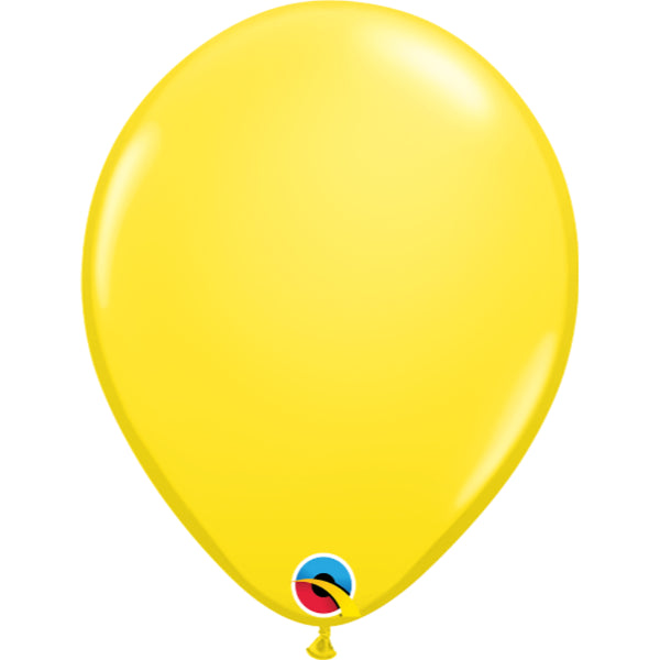 Yellow 11in Latex Balloons 6 pieces