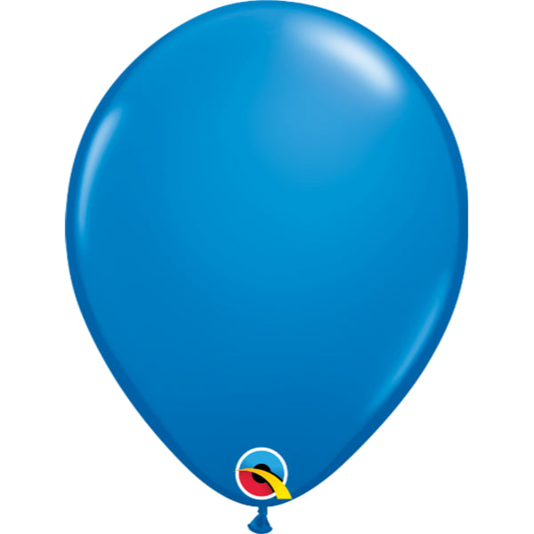 Dark Blue 11in Latex Balloons 6 pieces