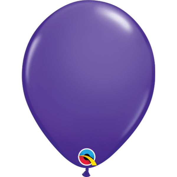 Purple Violet 11in Latex Balloons 6 pieces