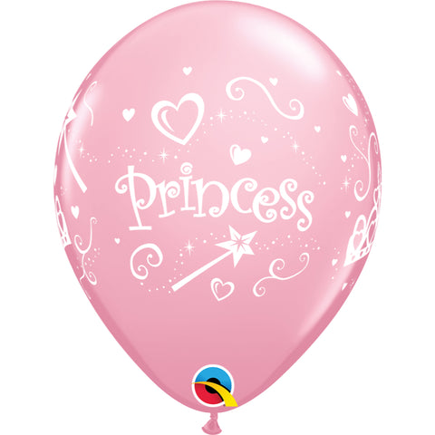 Princess 11in Pink Latex Balloons 6 pieces