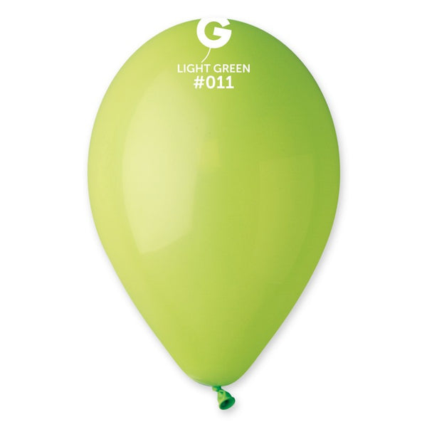 12in Standard Lime Green Latex Balloons 100 pieces