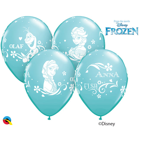 Anna, Elsa, & Olaf 12in Round 06 pieces Caribbean Blue
