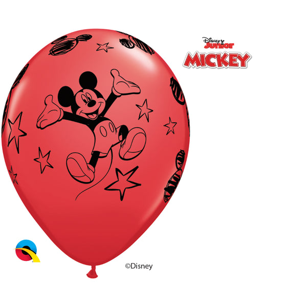 Dn Mickey 12In Round 6 pieces Red