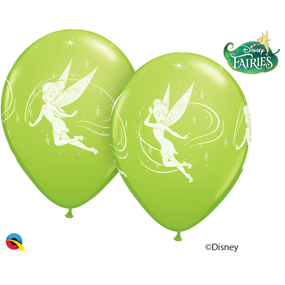 Tinker Bell 12in Round 06 pieces Lime Green