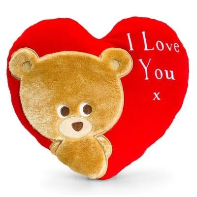 30cm Pipp The Bear Heart Cushion