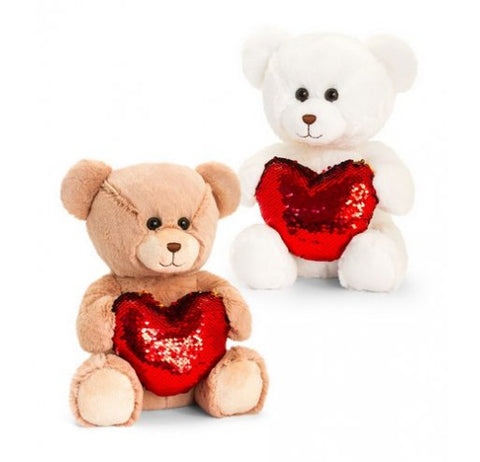 Barney Bear with Sequin Heart