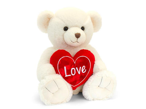 Cream Snuggles Bear with Heart 30cm