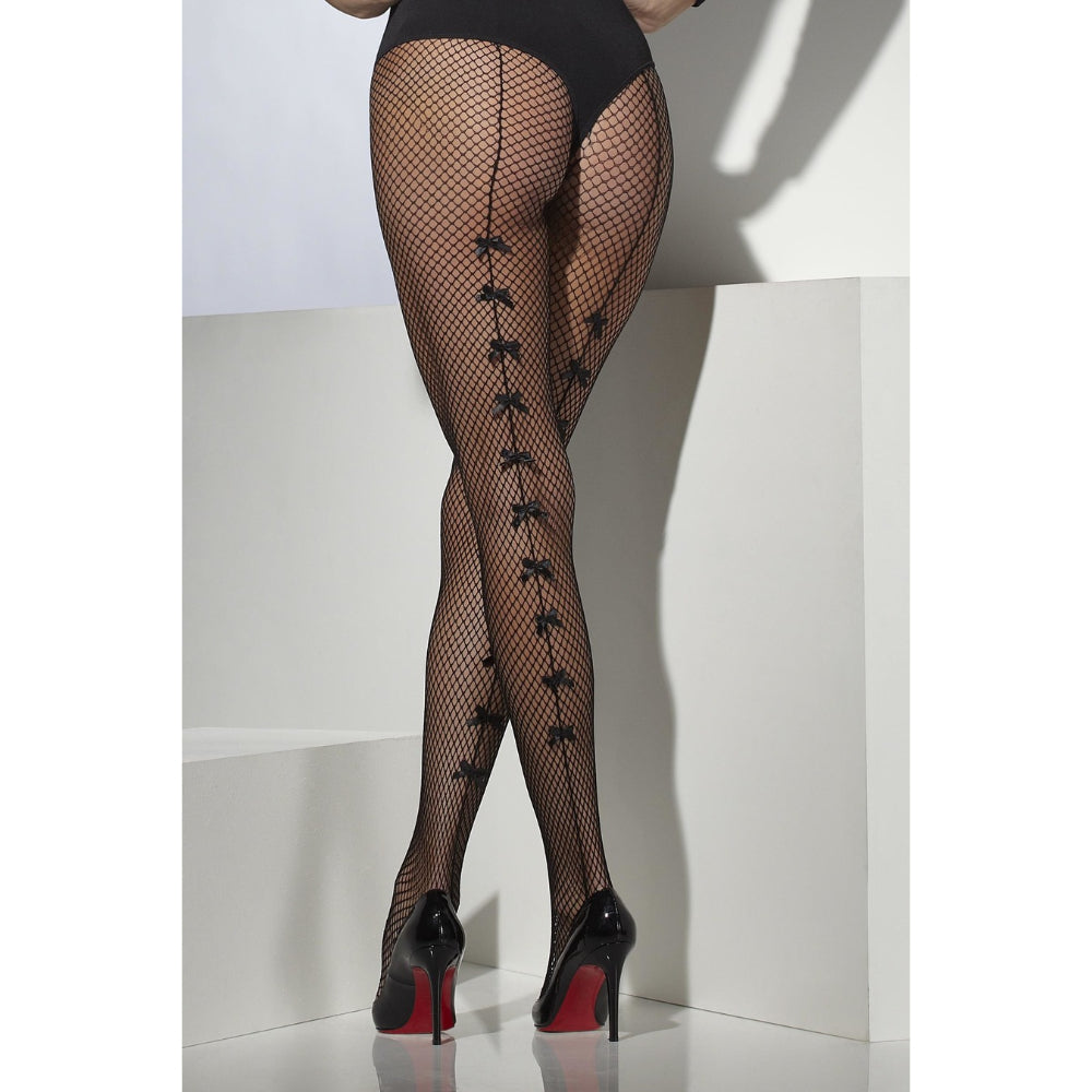 Fishnet Tight Black With Satin