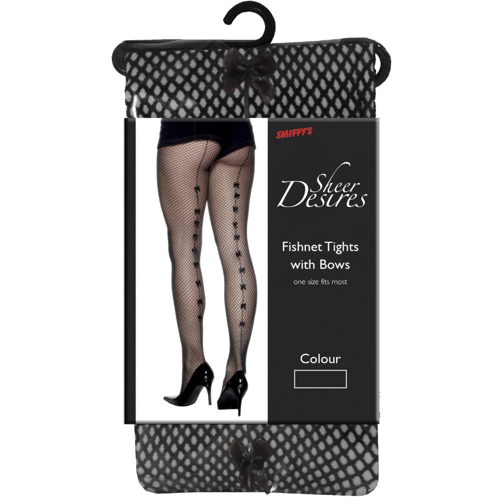 Fishnet Tights With Satin